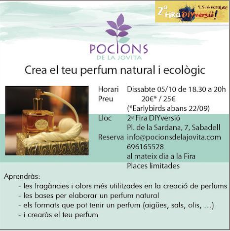 Crea el teu perfum natural i ecològic